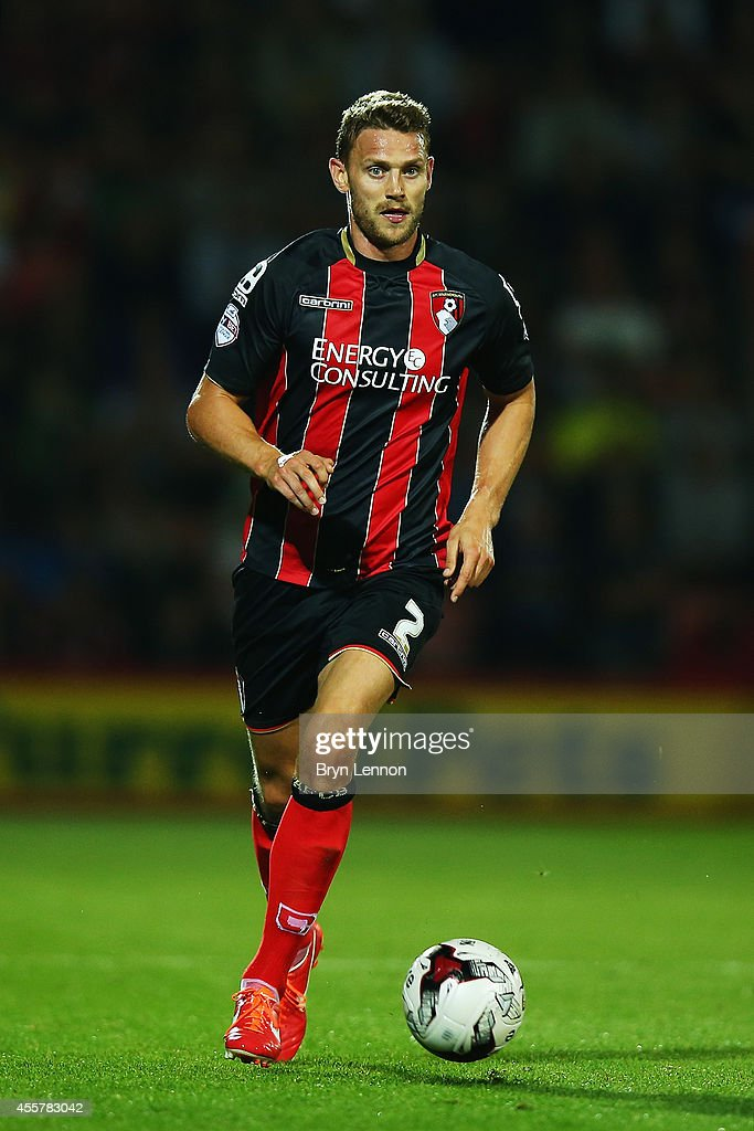 Simon Francis of AFC Bournemouth in action during the Sky Bet Championship match between AFC Bournemouth and Leeds United at Goldsands Stadium on September 16, 2014 in Bournemouth, England.