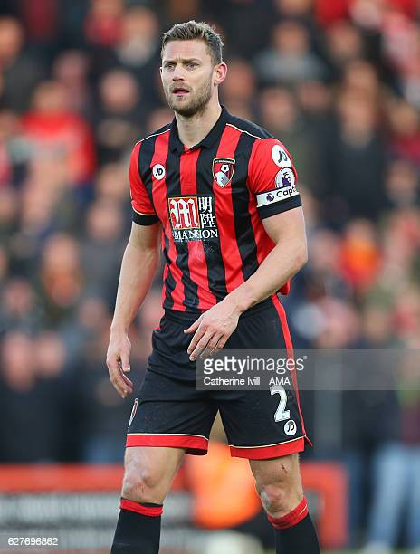 Simon Francis of Bournemouth during the Premier League match between AFC Bournemouth and Liverpool at Vitality Stadium on December 4 2016 in...