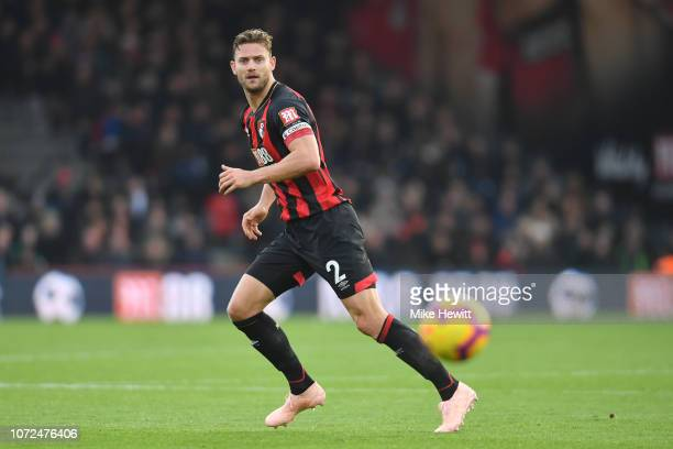 Simon Francis of Bournemouth in action during the Premier League match between AFC Bournemouth and Arsenal FC at Vitality Stadium on November 25 2018...