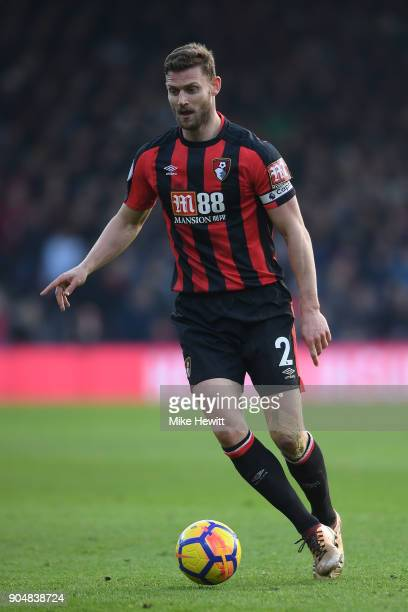 Simon Francis of Bournemouth in action during the Premier League match between AFC Bournemouth and Arsenal at Vitality Stadium on January 14 2018 in...