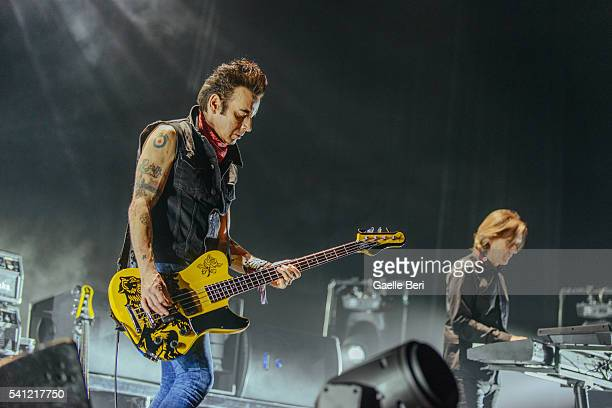 Simon Gallup and Roger O'Donnell of The Cure perform live at Centre Bell on June 14 2016 in Montreal Canada
