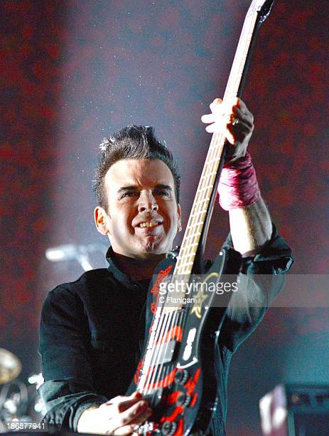 Simon Gallup of The Cure performs during the 2013 Voodoo Music + Arts Experience at City Park on November 3, 2013 in New Orleans, Louisiana.
