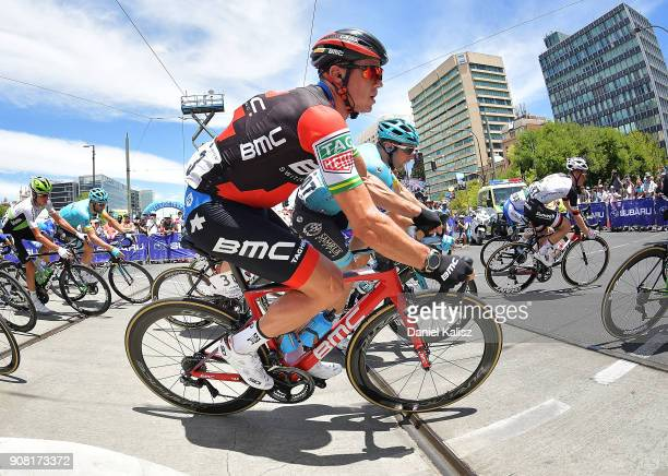 Simon Gerrans of Australia and BMC Racing Team competes during stage six of the 2018 Tour Down Under on January 21 2018 in Adelaide Australia