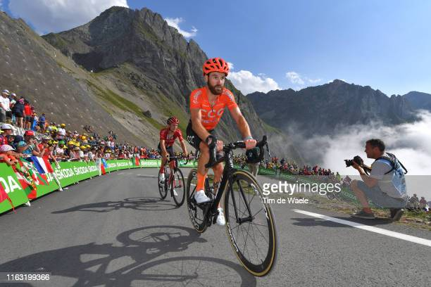 Simon Geschke of Germany and CCC Team / Col de Tourmalet / Mountains / Fans / Public / during the 106th Tour de France 2019, Stage 14 a 117km stage...