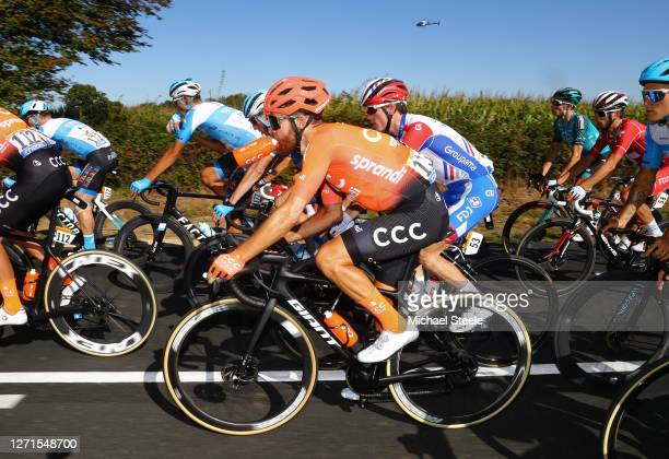 Simon Geschke of Germany and CCC Team / David Gaudu of France and Team Groupama - FDJ / during the 107th Tour de France 2020, Stage 11 a 167,5km...