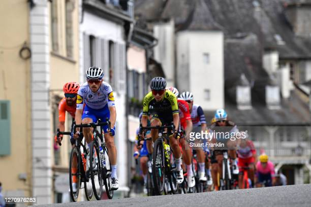 Simon Geschke of Germany and CCC Team / Dries Devenyns of Belgium and Team Deceuninck - Quick-Step / Johan Esteban Chaves Rubio of Colombia and Team...