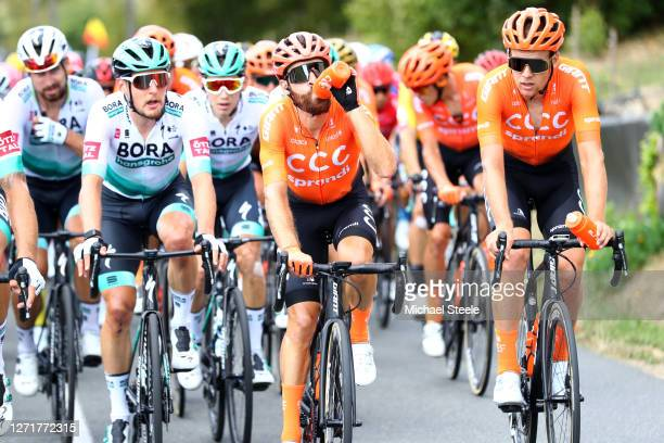 Simon Geschke of Germany and CCC Team / Jonas Koch of Germany and CCC Team / Refreshment / during the 107th Tour de France 2020, Stage 12 a 218km...