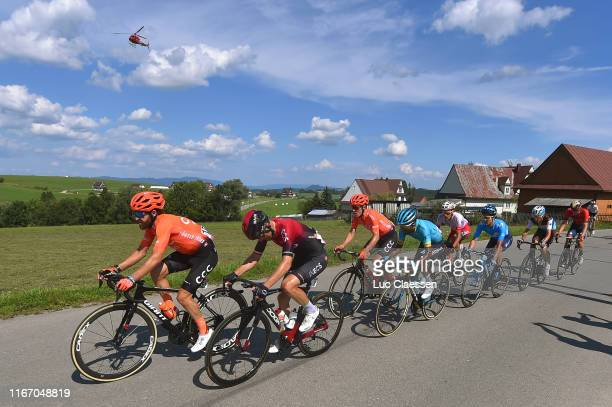 Simon Geschke of Germany and CCC Team / Michal Golas of Poland and Team INEOS / Serge Pauwels of Belgium and CCC Team / Merhawi Kudus of Eritrea and...