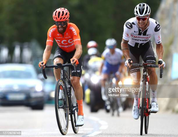 Simon Geschke of Germany and CCC Team / Nicholas Roche of Ireland and Team Sunweb / during the 107th Tour de France 2020 Stage 16 a 164km stage from...
