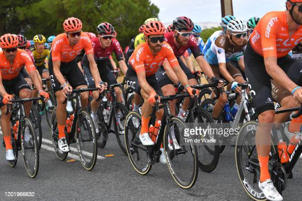 Simon Geschke of Germany and CCC Team / Łukasz Wiśniowski of Poland and CCC Team / Francisco Ventoso of Spain and CCC Team / Peloton / during the...