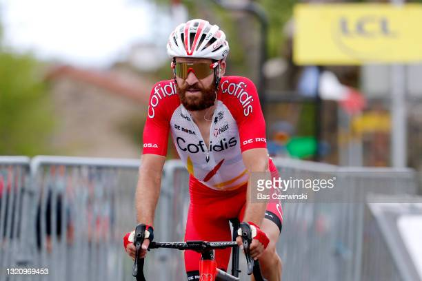 Simon Geschke of Germany and Team Cofidis at arrival during the 73rd Critérium du Dauphiné 2021, Stage 2 a 172,8km stage from Brioude to Saugues 935m...