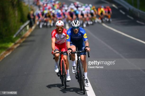 Simon Geschke of Germany and Team Cofidis & Mattia Cattaneo of Italy and Team Deceuninck - Quick-Step during the 60th Itzulia-Vuelta Ciclista Pais...