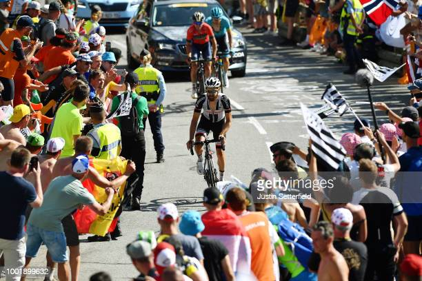 Simon Geschke of Germany and Team Sunweb / Alpe d'Huez / Public / Fans / during the 105th Tour de France 2018 Stage 12 a 1755km stage from...