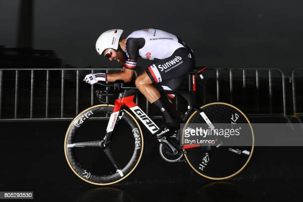 Simon Geschke of Germany and Team Sunweb competes during stage one of Le Tour de France 2017, a 14km individual time trial on July 1, 2017 in...