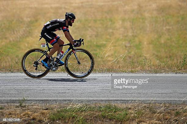 Simon Geschke of Germany riding for Giant-Alpecin launches a solo attack on the brekaway as he went on to win stage 17 of the 2015 Tour de France...