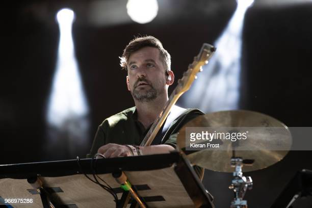 Simon Green aka Bonobo performs at Forbidden Fruit festival on June 3, 2018 in Dublin, Ireland.