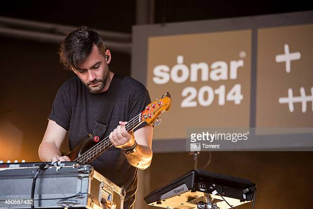 Simon Green of Bonobo performs on stage during the second day of Sonar Festival on June 13 2014 in Barcelona Spain