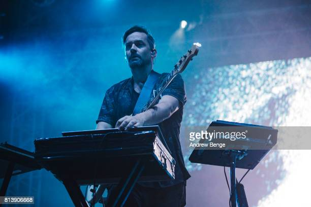 Simon Green of Bonobo performs on the Heineken stage during day 1 of NOS Alive on July 6 2017 in Lisbon Portugal