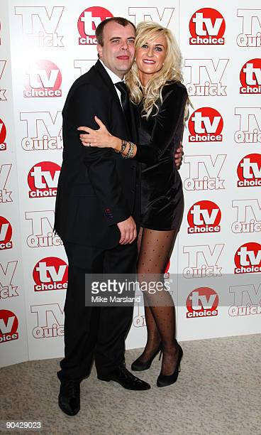 Simon Gregson and Katherine Kelly attend the TV Quick Tv Choice Awards at The Dorchester on September 7 2009 in London England