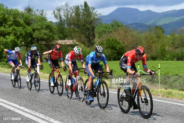 Simon Guglielmi of France and Team Groupama - FDJ, Jimmy Janssens of Belgium and Team Alpecin-Fenix, Gino Mader of Switzerland and Team Bahrain...