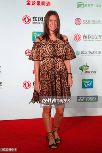 Simon Halep of Romania poses for a picture at a party of 2017 DONGFENG MOTOR WUHAN OPEN on September 23 2017 in Wuhan China