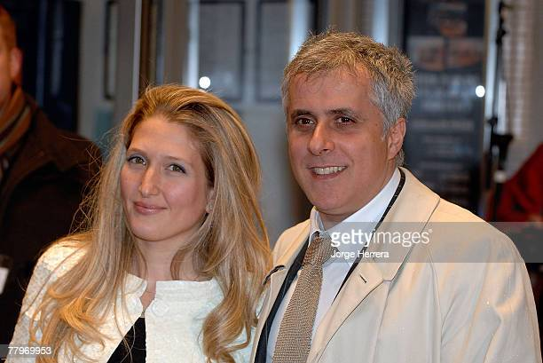 Simon Halfon and guest arrive at the Sleuth UK Film Premiere at the Odeon West End on November 18 2007 in London England