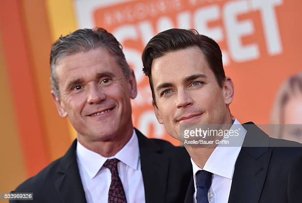 Simon Halls and actor Matt Bomer arrive at the premiere of Warner Bros Pictures' 'The Nice Guys' at TCL Chinese Theatre on May 10 2016 in Hollywood...