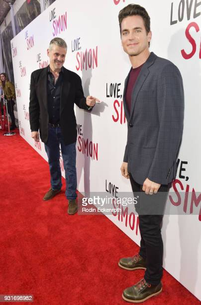 Simon Halls and actor Matt Bomer attend a special screening of 20th Century Fox's 'Love Simon' at Westfield Century City on March 13 2018 in Los...