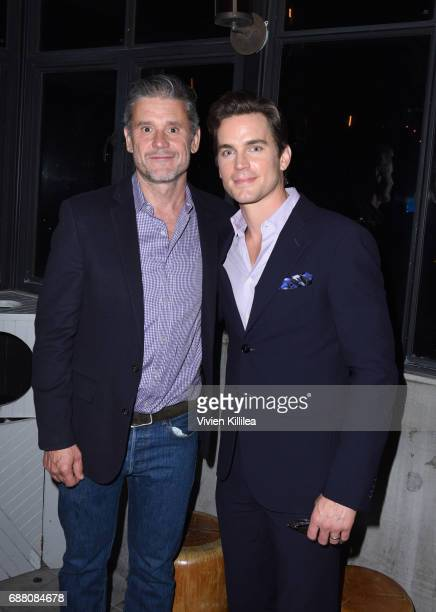 Simon Halls and Matt Bomer attend CAP UCLA Pomegranate Arts And Ace Hotel Present An Evening With Taylor Mac at the Ace Hotel on May 24 2017 in Los...
