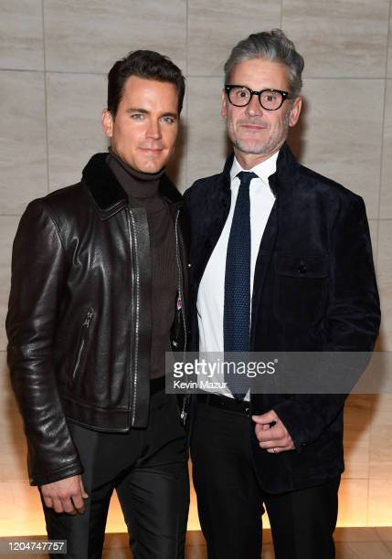 Simon Halls and Matt Bomer attend the Tom Ford AW20 Show at Milk Studios on February 07 2020 in Hollywood California