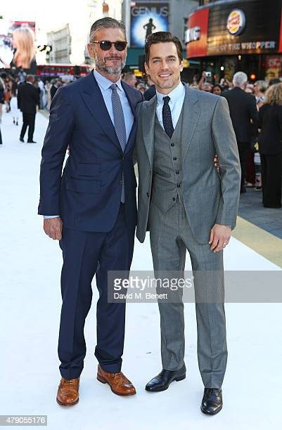 Simon Halls and Matt Bomer attend the UK Premiere of Magic Mike XXL at the Vue West End on June 30 2015 in London England