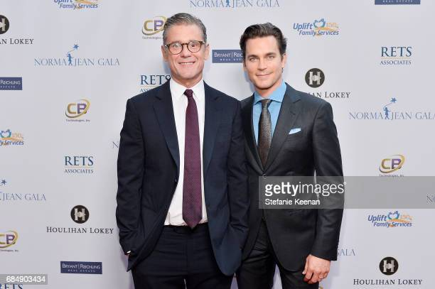 Simon Halls and Matt Bomer attend Uplift Family Services at Hollygrove Gala at W Hollywood on May 18 2017 in Hollywood California