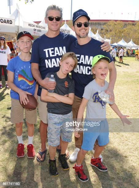 Simon Halls Matt Bomer Kits Halls Henry Halls and Walker Halls attend Nanci Ryder's Team Nanci 15th Annual LA County Walk To Defeat ALS at Exposition...