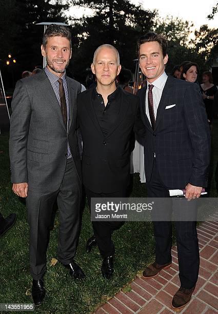 Simon Halls Ryan Murphy and Matt Bomer attend the American Fertility Association's Illuminations LA 2012 on April 28 2012 in Los Angeles California