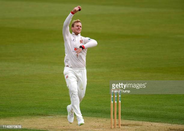 Simon Harmer of Essex bowls during Day One of the Specsavers County Champions Division One match between Hampshire and Essex at the Ageas Bowl on...