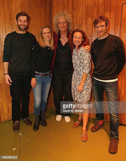 Simon Harrison Beth Cordingly Brian May Ellie Percy and Daniel Weyman visit the West End production of Sideways The Play at the St James Theatre on...
