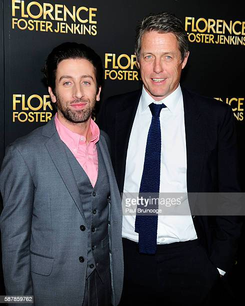 Simon Helberg and Hugh Grant attend Paramount Pictures Presents the New York Premiere of Florence Foster Jenkins at AMC Loews Lincoln Square 13...