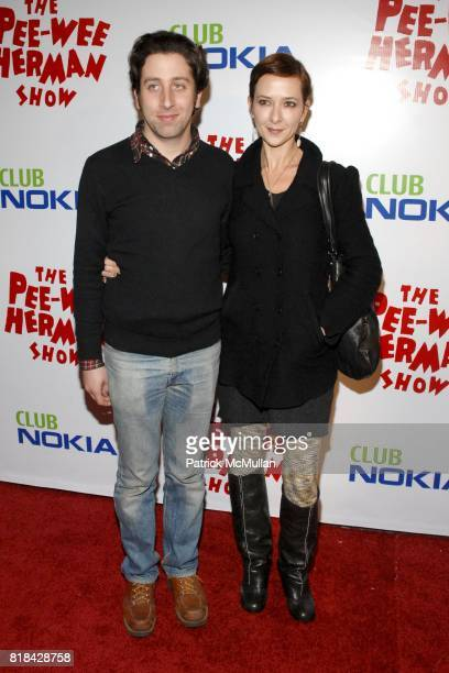 Simon Helberg and Jocelyn Towne attend The Pee Wee Herman Show Opening Night at Club Nokia on January 20 2010 in Los Angeles California