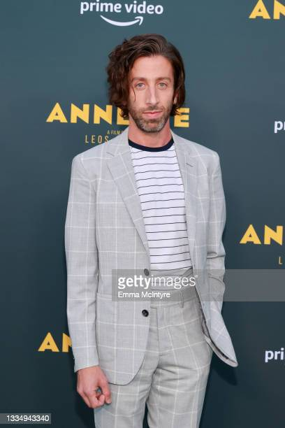 """Simon Helberg attends a special screening of Amazon's original movie """"Annette"""" at Hollywood Forever on August 18, 2021 in Hollywood, California."""