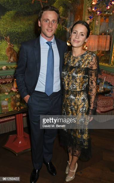 Simon Higson and Emma Reeve attend the Annabel's x Dior dinner on May 21 2018 in London England
