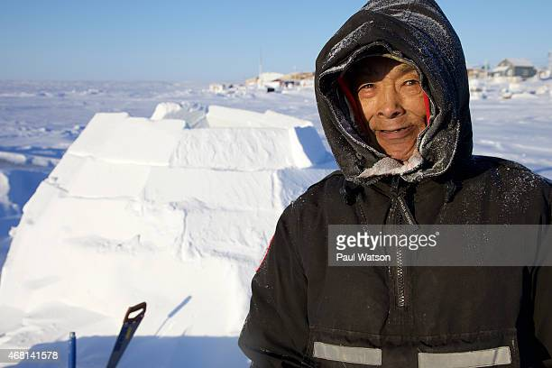 Simon Hiqiniq is a master in the art of iglo building which has allowed Inuit to survive the harsh Arctic climate for centuries