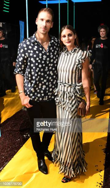 Simon Huck and Olivia Palermo attend A Human Launch Event hosted by Simon Huck on September 4 2018 in New York City