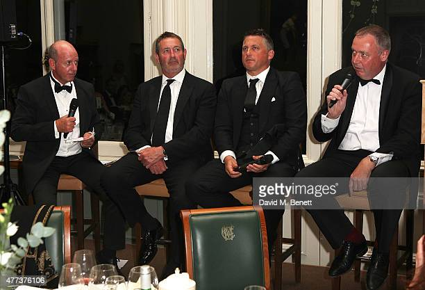 Simon Hughes Graham Gooch Darren Gough and Angus Fraser attend the I CAN Gala Dinner in aid of The Million Lost Voices appeal at Lord's Cricket...