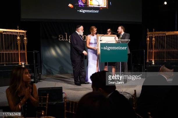 Simon Jacobson Rachel Riley Dr Sonat Birnecker Hart and Dovid Efune attend Sir Ben Kingsley And Rachel Riley Honored By The Algemeiner At J100 Gala...