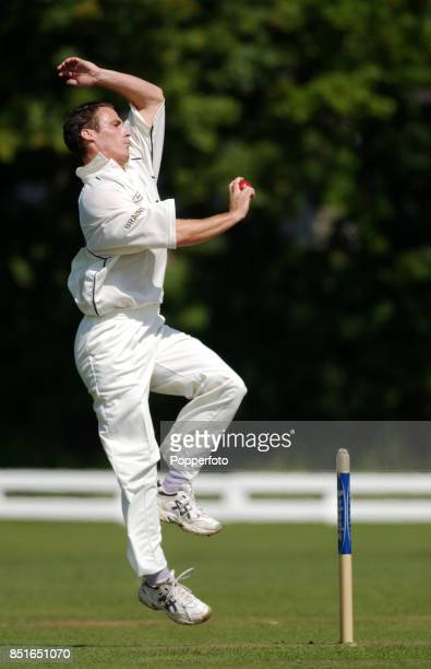 Simon Jones of Glamorgan bowling during his comeback Second XI Championship match between Glamorgan Second XI and Lancashire Second XI at the Panteg...