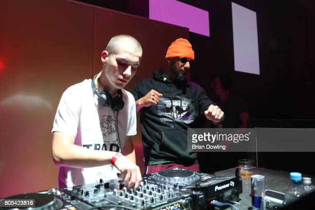 Simon Kaiser and Swiss Beatz perform at Bacardi X The Dean Collection Present No Commission Berlin on July 1 2017 in Berlin Germany