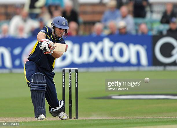 Simon Katich of Hampshire Royals plays a shot during the Clydesdale Bank Pro40 semi final match between Sussex and Hampshire at the Probiz County...