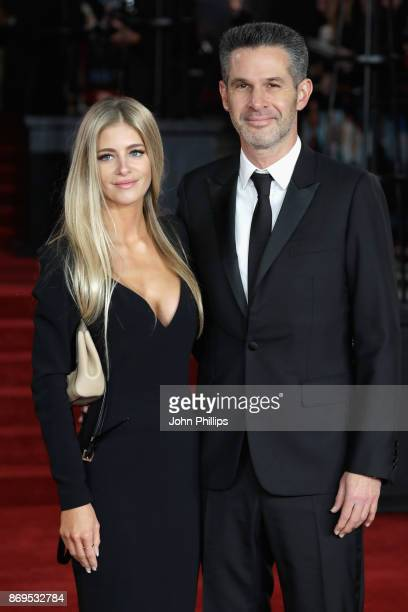 Simon Kinberg and a guest attend the 'Murder On The Orient Express' World Premiere at Royal Albert Hall on November 2 2017 in London England