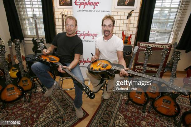 Simon Kirke and Andy Fraser during Epiphone Supports Free Forever DVD Launch to Mark 30 Years Since the Passing of Free Lead Guitarist Paul Kossoff...