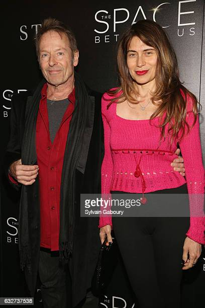 """Simon Kirke and Maria Angelica attend STX Entertainment with The Cinema Society Host a Screening of """"The Space Between Us"""" on January 25, 2017 in New..."""